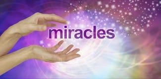 Los milagros suceden fondo imagenes de archivo