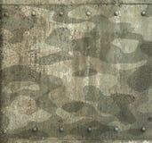 Los militares camuflan el fondo pintado de la armadura del metal Imagen de archivo libre de regalías