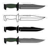 Los militares combaten el sistema del cuchillo Fotografía de archivo libre de regalías