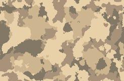 Los militares de la textura de la impresión camuflan al ejército inconsútil de las repeticiones que caza la arena marrón del fang ilustración del vector