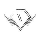 los militares de las insignias del escudo cons alas bosquejan libre illustration