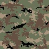 Los militares del ejército camuflan el modelo inconsútil stock de ilustración