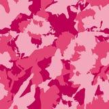 Los militares del vector camuflan el modelo Puntos dibujados mano rosada Fotos de archivo