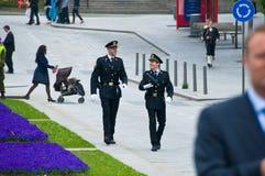 Los militares en Stavanger imagenes de archivo