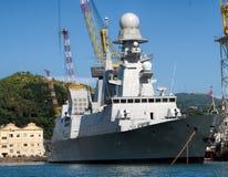 Los militares envían en un puerto Fotografía de archivo libre de regalías