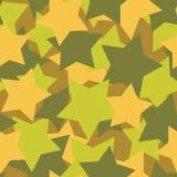Los militares texturizan de las estrellas Fondo del ejército protector Imagen de archivo