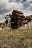 Los mineros desenterraron la arcilla de la mina histórica de la arcilla en Colorado Fotografía de archivo
