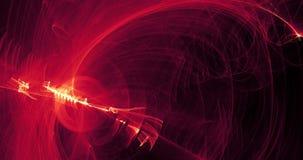 Los modelos abstractos de líneas curvan partículas del rojo y del amarillo almacen de video
