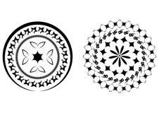Los modelos circulares negros abstractos hicieron el cepillo del ‹del †del ‹del †ilustración del vector