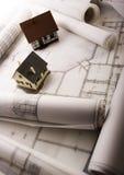 Los modelos de la casa se cierran para arriba Fotos de archivo libres de regalías