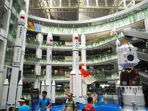 Los modelos de los cohetes y del Shenzhou largos de marzo fotos de archivo libres de regalías