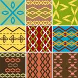 Los modelos múltiples colorearon textura étnica Stock de ilustración