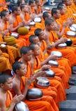 Los monjes de Yong ruegan Foto de archivo