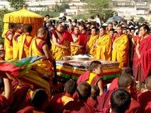 Los monjes en rezo Fotografía de archivo libre de regalías
