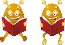 Los monstruos leyeron los libros stock de ilustración