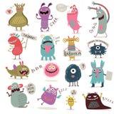Los monstruos lindos fijaron Foto de archivo libre de regalías