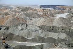 Los montones de escombros en el diamante primero minan en Cullinan, Suráfrica imagenes de archivo
