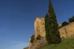 Los monumentos históricos de la ciudad del ¡de CÃ ceres, España imagen de archivo