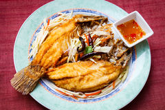 Los mordedores fritos, diseñan la comida tailandesa Fotos de archivo