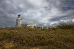 Los Morrillos lighthouse stock photography