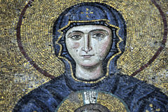Los mosaicos de Comnenus, Hagia Sophia, Estambul Foto de archivo