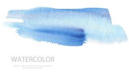 Los movimientos abstractos del cepillo de la acuarela pintaron el fondo PA de la textura fotografía de archivo libre de regalías