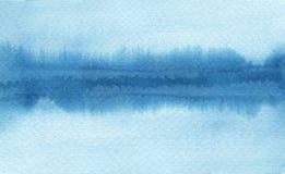 Los movimientos abstractos del cepillo de la acuarela pintaron el fondo PA de la textura Foto de archivo