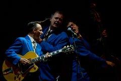 Los muchachos de la galleta en etapa en el festival de jazz de Umbría Fotos de archivo libres de regalías