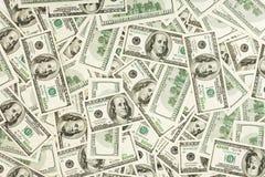 Los muchos E.E.U.U. 100 dólares Fotos de archivo
