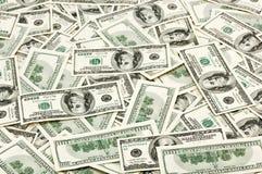 Los muchos E.E.U.U. 100 dólares Fotografía de archivo