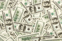 Los muchos E.E.U.U. 100 dólares, fondo Fotos de archivo