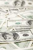 Los muchos E.E.U.U. 100 dólares, fondo del asunto Foto de archivo libre de regalías