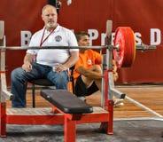 Los 2014 mundiales powerlifting AWPC en Moscú Fotografía de archivo