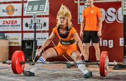 Los 2014 mundiales powerlifting AWPC en Moscú Imagen de archivo libre de regalías