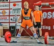 Los 2014 mundiales powerlifting AWPC en Moscú Foto de archivo