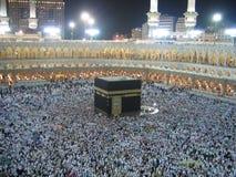 Los musulmanes acercan al Kaaba Imagen de archivo