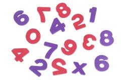 Los números confusos Fotografía de archivo libre de regalías