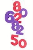Los números confusos Foto de archivo