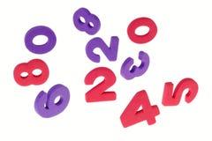 Los números confusos Imagen de archivo libre de regalías