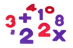 Los números confusos Imagen de archivo