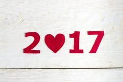 Los números del Año Nuevo Foto de archivo libre de regalías