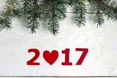 Los números del Año Nuevo Imágenes de archivo libres de regalías