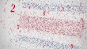 Los números descendentes componen la bandera de COSTA RICA Animación conceptual 3D almacen de metraje de vídeo