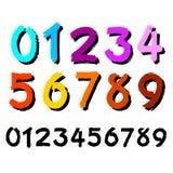 Los números fijados Vector en el fondo blanco Imágenes de archivo libres de regalías
