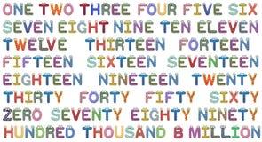 Los números fijaron para los niños Imágenes de archivo libres de regalías