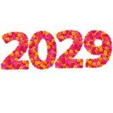 Los números 2029 hicieron de las flores de los Zinnias Imagen de archivo libre de regalías