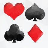 Los naipes se adaptan en estilo moderno del triángulo Imagen de archivo libre de regalías