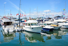 Los navegantes celebran el día de Canadá del puerto interno Foto de archivo
