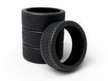 Los neumáticos de automóvil rinden Fotografía de archivo