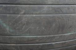 Los neumáticos de aviones eran funcionando hasta la fractura foto de archivo